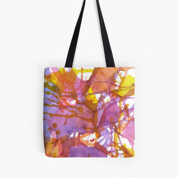 'Creative chaos | Abstract multicolored background' Tote Bag by Foxeye Daisy