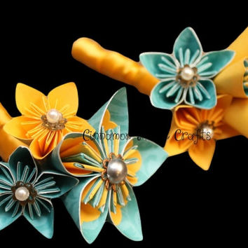 Groom Boutonniere / Groomsmen Lapel / Wedding Boutonniere / Wedding Flowers / Paper Flowers / Lapel Flowers~Set of 2 *FREE Shipping to U.S.*
