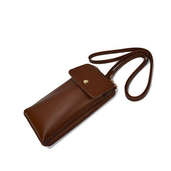Korean Phone Wallet Vintage Messenger Bags Bags One Shoulder Mini Purse [8833464204]