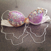 Plurmaid Mermaid Rave Bra for EDC, Electric Zoo, Ultra, Veld, Electric Forest, Spring Awakening, Music Festivals, GoGo Dancing, EDM Shows