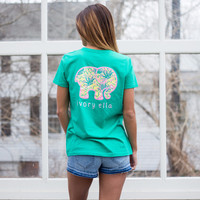 Perfect Fit Vivid Green Summer Pineapple Tee
