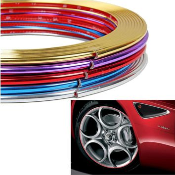 8M PVC Plating Tire Sticker Decorative Styling Strip Wheel Rim Protection Care Covers Auto Accessories for Skoda Octavia