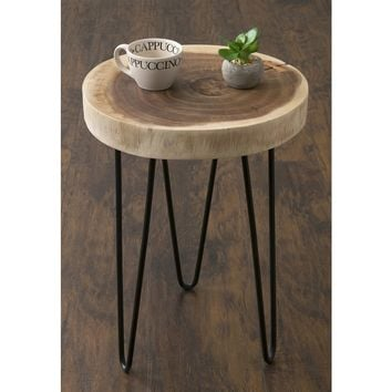 East At Main's Laredo Brown Teakwood Round Accent Table | Overstock.com Shopping - The Best Deals on Coffee, Sofa & End Tables