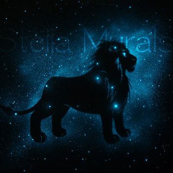 Leo the Lion Constellation Art - Glow in the Dark Star Poster