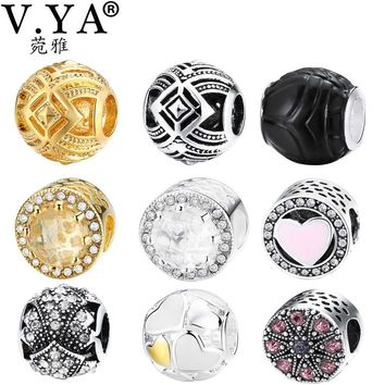 V.YA DIY Beads Charms fit for Pandora Necklace Bracelets Women's Men's Bead for Jewelr