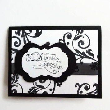 Thank you Cards Black & White Thank you Card
