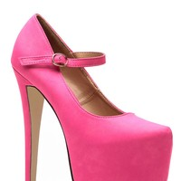 Glaze Sky High Hot Pink Mary Jane Pumps @ Cicihot Heel Shoes online store sales:Stiletto Heel Shoes,High Heel Pumps,Womens High Heel Shoes,Prom Shoes,Summer Shoes,Spring Shoes,Spool Heel,Womens Dress Shoes