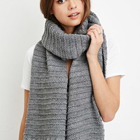 Chunky Striped-Knit Scarf