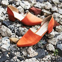 Free People Mercer Block Heel Flat
