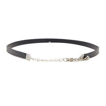 Faux Leather Charm Choker
