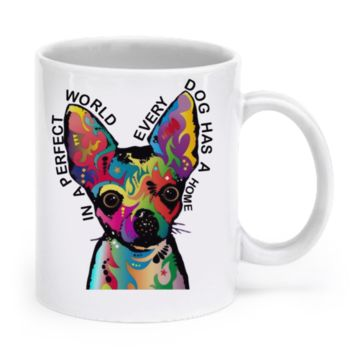 Chihuahua mug - In A perfect world chimug