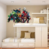 Avengers Decal - Heroes and Super heroes Printed and Die-Cut Vinyl Apply in any Flat Surface- Avengers Wall Art Decor