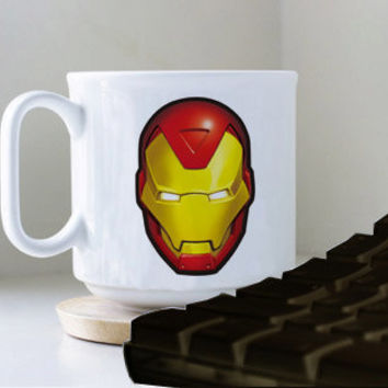 Ironman Face Logo  mug heppy mug coffee, mug tea, size 8,2 x 9,5 cm.