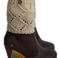 Boot Cuffs oatmeal with button, Women's Accessories, Teen Girls, Winter Boot Cuffs, Boot Toppers, Knit Boot Socks Tweed, Fall Accessory,