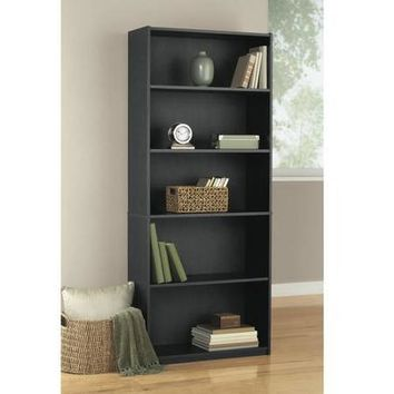 Mainstays 5-Shelf Wood Bookcase, Multiple Colors - Walmart.com
