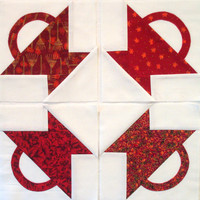 Small Red Basket Quilt Blocks