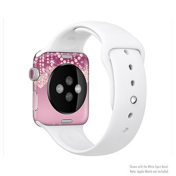 The Pink Sparkly Chandelier Hearts Full-Body Skin Kit for the Apple Watch
