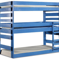 Tribeca Extra Long Twin Triple Colored Bunk Bed