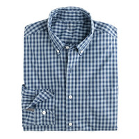 J.Crew Mens Slim Lightweight Secret Wash Shirt In Tonal Gingham