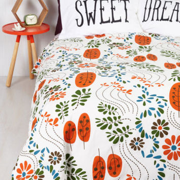 Mid-Century Grow to Sleep Duvet Cover in Full, Queen by ModCloth