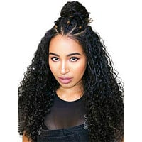 Deep Wave Full Lace Brazilian Remy Human Hair Wig With Baby Hair
