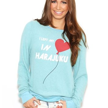 Wildfox My Heart's in Harajuku Baggy Beach Jumper in Bento Blue | Boutique To You