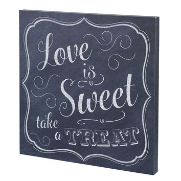 """Love is Sweet"" Canvas Wedding Sign"