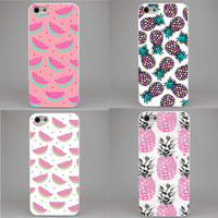 New Fruit  Pineapple Watermelon Banana Fruit Printed Hard Cell Phone Case for iphone4s 5s 5c+ Free shipping