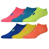 Under Armour Brights No Show 6 Pack Socks - Women's at Champs Sports