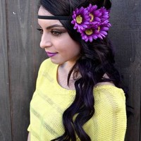 Layered Daisy Headband #C1031