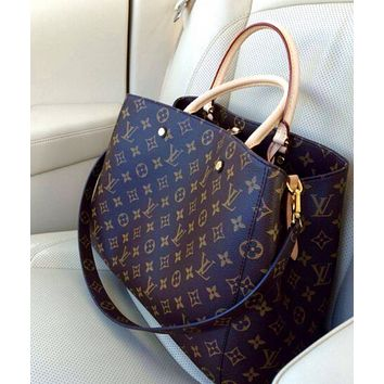 LV Popular Women Classic Shopping Bag Leather Tote Handbag Shoulder Bag I