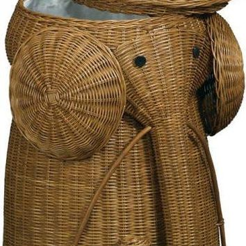 Rattan Elephant Hamper Laundry Hampers From Home Decorators