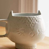 Assembly Home Ceramic Snow Owl Mug