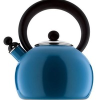 Copco 2-Quart Bella Enamel-on-Steel tea kettle, blue