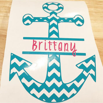 Chevron Anchor name decal