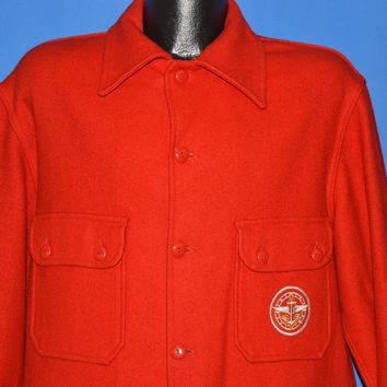 80s Boy Scouts Of America Silver Award Wool Jacket Extra Large