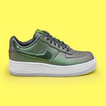 qiyif NIKE - Women - W Air Force 1 Upstep Premium LX - Dark Stucco/White