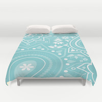 Paisley Blue Duvet Cover by ALLY COXON | Society6