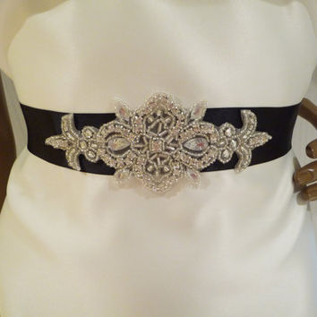 Bridal Rhinestone Sash STEFANI  Bridal Belt by BellaCescaBoutique