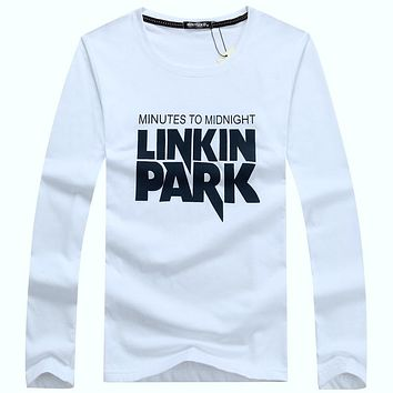 Autumn And Winter New Pure cotton Fashion Designer Men Cotton High-quality T Shirts Casual Long Sleeve men T-shirt