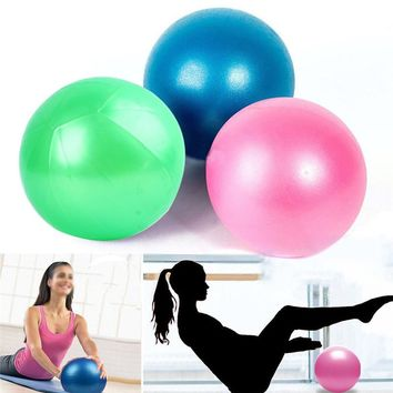 22cm Yoga Exercise Ball Gym Pilates Balance Exercising Fitness Air Pump Anti-Burst Safety & Survival Z1219