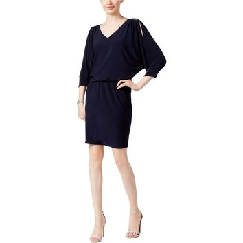 MSK Womens Embellished Open Sleeve Party Dress