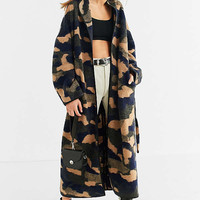 UO Camo Wool Cocoon Coat | Urban Outfitters