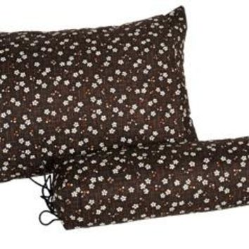 J-Life Sakura Brown Buckwheat Hull Pillow
