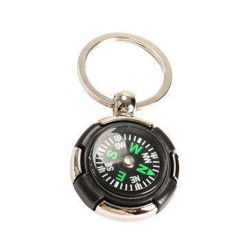Outdoor Survival Key Ring Compass  Mini Pocket Brass Watch Style Ring KeyChain Camping Hiking Compass Navigation  B2C Sh