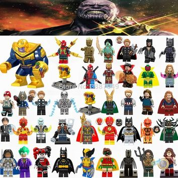 Deadpool Dead pool Taco Figurine Marvel Avengers Infinity War Thanos Ironman Spider-man Hulk Batman  Cute Figurines Toys for Children Legoings AT_70_6