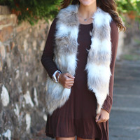 Fireside Two-Tone Fur Vest {Ash Brown}