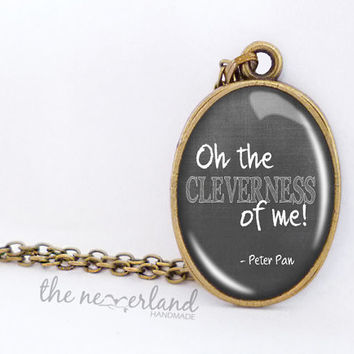 Peter Pan jewelry, quote pendant, personalized necklace, gift