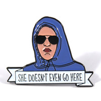 Mean Girls Damian She Doesn't Even Go Here Soft Enamel Pin - Regina George - Janis Ian - Gretchen Wieners - Cady Heron