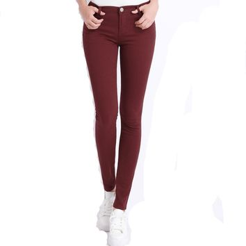 Women's Solid Color Denim Jeans